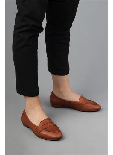 Modabuymus Modabuymus Hakiki Deri Babet  Kadın Ayakkabı - Bilder Taba